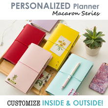 [24 AVENUE ] ♥ Macaron Planner ♥ Personalized Organizer♥ Customized Leather Traveler Notebook