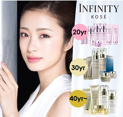LUXURY KOSE Infinity Lotion/ Essence/ Cream for 20s 30s 40s Travel Size