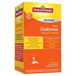 ★최저가★ 미국 네이처 메이드 당뇨환자용 멀티비타민 종합영양제 60팩