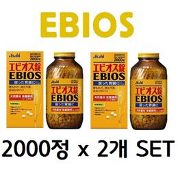 에비오스 2000정 x 2개 SET [4000정] 식욕부진/소화불량/속쓰림/위장약화/과음/체질개선 임산부수유부영양보급
