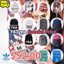 [ADIDAS][FILA] ♥Get Qoo10 Coupon $6♥ 18Type Backpack Collection / Court bag BP Youth BR4906 BR4881