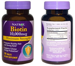 Natrol Biotin Maximum Strength 1000/10000 mcg 100 Tablets. Promote Healthy Hair And Strong Nails.
