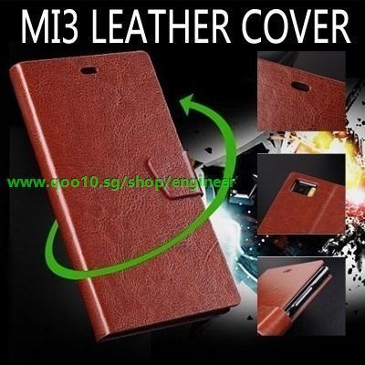 new product 06317 d7662 hot mi3 rice3 xiaomi MI3 phone case Plain weave Buckle business style  fashion leather cover case for