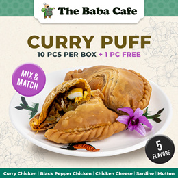 [Bundle of 10] Nyonya Curry Puffs - 5 Flavors (+ 1 FREE PUFF!)