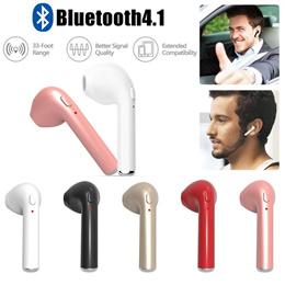 I7蓝牙耳机无线迷你单耳 双 带充电盒立体声4.1 HBQ i7耳机