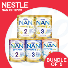 [NESTLÉ NAN] (UPDATED BEST PRICE) Nan Optipro/HA/Kid hypoallergenic formulated milk  | Bundle of 6