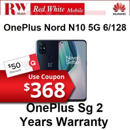 OnePlus nord N10 5G 6/128Gb-OnePlus Singapore 2 Years Warranty