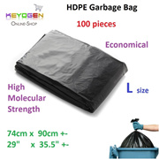 Free delivery HDPE Garbage Bag L 74cm x 90cm - 100pcs - produce by iso factory