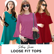 [PLUS SIZE] KOREA STYLE ★LOOSE FIT TEE COLLECTION / SUPER SOFT SPANDEX