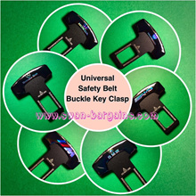 Universal Car Safety Belt Buckle Clip Key Insert w Double-sided 3D Car Makers Logo Design ★SG Seller