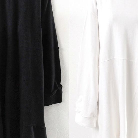 ウィスィモールIWバイブフリルロングワンピースIB1710 綿ワンピース/ 韓国ファッション