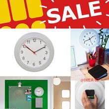 IKEA RUSCH Jam dinding Putih