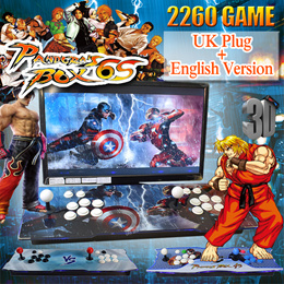 【SG Best Deal】Pandora Box 3D Double play game English Version Arcade Game Console 2350/2260/1500 Games Jamma UK Plug丨Free Shipping