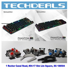 Tecware Phantom 87 Key | 104 Key RGB Mechanical Keyboard Red/Blue/Brown Switch