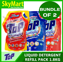 [Bundle of 2] Top Detergent Liquid Refill 1.8kg x 2