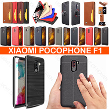Xiaomi pocophone F1 case Luxury Shockproof back cover poco F1 New Carbon Fiber Soft silicone cases