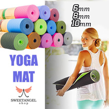 Yoga Towel / Yoga Exercise Mat 6mm 8mm 10mm TPE NBR dual color