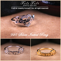 【2018 New Product + Free Shipping】925Silver Nameplate Ring♥Couple Ring♥Wrapping Free