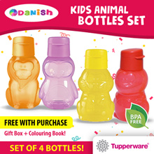 Tupperware Kids Collection Eco Fliptop Water Bottle 350ml *BPA Free* Best Present/Gift/School