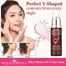 Proven Results! SHILLS Miracle-Lift Lifting Firming V-Face Serum/15°Lift for Chin And Facial Contour