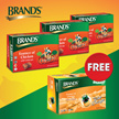 3 packs of Brand's Herbal Essence 6x70gm FREE 1 pack of Brand's Fine Taste 6x42gm