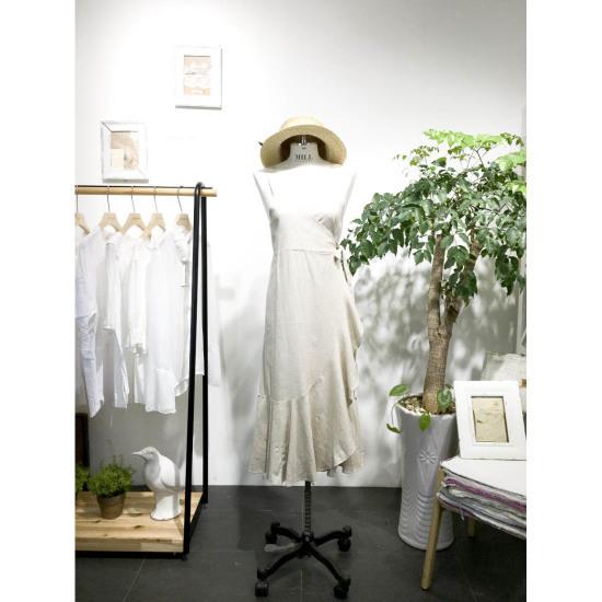 スタジオホワイトブーケシャーリング・ラップワンピースMC715S150 面ワンピース/ 韓国ファッション