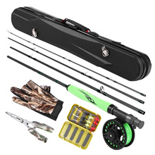 F1 Lightweight Portable Fly Fishing Rod and Reel Combo