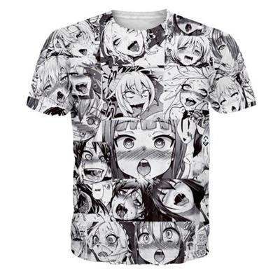 c0474319 Ahegao T-Shirt Women Men Casual tshirt tops summer Harajuku Tubmlr t shirt  Graphic vibrant