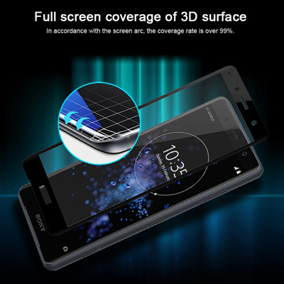 VRURC Screen Protector For Sony Xperia XZ2 Compact H8441 3D edge Full Cover  Tempered Glass For Sony