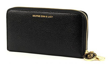 Direct from Germany -  GEORGE GINA &amp  LUCY, ladies purses, exchanges, wallets, purses, leather, black, 19 x 10 x 2.5...