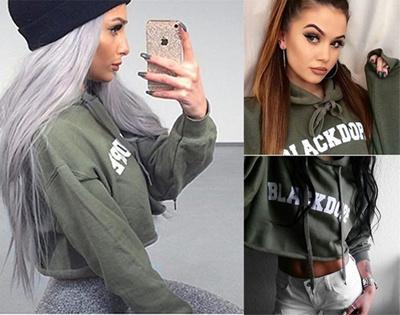 Sweatshirt Wanita Sweater Jumper Tanaman Cetak Lengan Tarik Lover Tops  Hoodie 89de57de6b