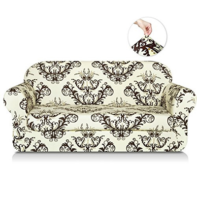 Qoo10 - TIKAMI 2-Piece Spandex Printed Fit Stretch Sofa Slipcovers ...