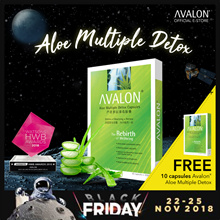 FREE 10 CAPSULES! SG 12 YEARS BEST SELLING DETOX - AVALON Aloe Multiple Detox