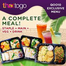 ThaiToGo l BENTO SET MEAL l Lunch box + Drink l QOO10 EXCLUSIVE l One complete meal to your doorstep