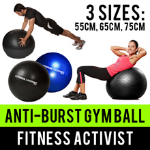 ⏰💪★★Premium Quality Thickness★★Anti burst★★Yoga Stability Gym Ball★★Air Pump★★Abs Office Chair★★