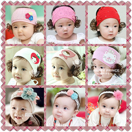 [CNY] Korea Style Baby/Kids/Toddler/Girl Hair Accessories Headband Lacey with wig