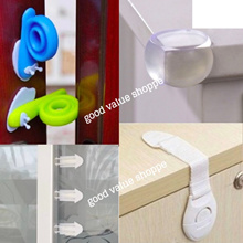 ★ 10pcs Baby Corner Guard / 5pcs Baby Safety Lock /  6pcs Sliding Door Stopper / 5pcs Plug Stoppers