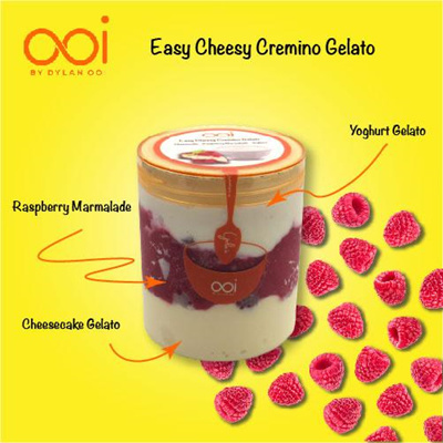 OOI Gelato - Easy Cheesy Cremino Gelato 450ml (Hal