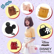 Disney Mickey Minnie Winnie the Pooh Chip Dale Drawstring Cylinder Satchel Shoulder Bag/Round Pouch