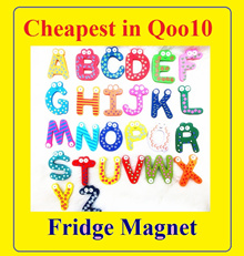 Cheapest in Qoo10★Fridge Magnet Set Alphabet Number Animals Fish insect Wood Magnets★