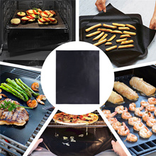 Kitchen Copper Chef 1pc BBQ Grill Mat Sheet Reusable Resistant Non-Stick Barbecue Baking Bake Meat 4