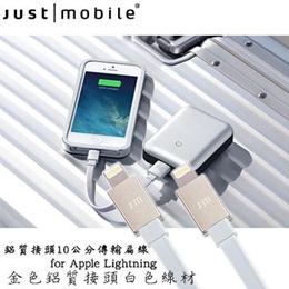 Just Mobile AluCable Flat Mini aluminum fitting 10 cm flat transmission line