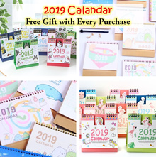 💖 2019 Calendar 💖 CHRISTMAS GIFTS 💖 Hello Kitty Peppa Pig Summiko Tororo Doraemon Unicorn Cartoon