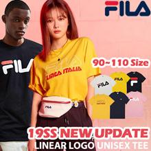 [FILA] Ar 2019 SS New Arrivals Unisex Linear Logo Short Sleeve Basic Casual Tee / T Shirt / 100% Authentic Positive Shirt / 90 ~ 110 Size