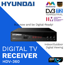 ★NEW★ SINGAPORE HDV-360 DVB-T2 DIGITAL TUNER/ DIGITAL TV CONVERSION/ FREE ANTENNA/ HDMI CABLE