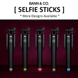 Selfie Stick/MonoPod for Smartphones / Travel / Photography - Wide Range of Designs Available
