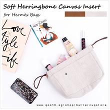 Herringbone Organizer insert for Hermès. Birkin Kelly Lindy Garden Party Picotin Lock dust bag