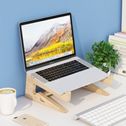 Computer increased solid wood notebook stand vertical stand cushioned stand cooling base cervical spine desktop creative storage