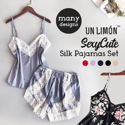9d1b6ac3f3 New Arrival⭐ UNLIMON Silk Pajamas For Women Satin Sexy Cute Sleepwear Sets  Comfortable Nightdress