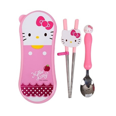 3c6081b69b7d Hello Kitty Chopsticks Mascot Spoon Wide Case Set 2 Stage Character Kids  Flatware KH6127  Rating  0  Free  S 32.00 S 30.00